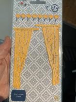 Dies två gardiner ca 5x11 cm st