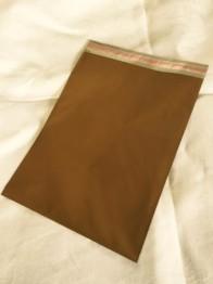 Cellofankuvert, 1 st, guldmetallic med klisterremsa -