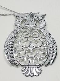Uggla i metall silver -
