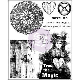 Prima Cling Stamps Trust The Magic  -