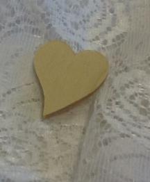 Nr 15 Hjärta plywood 3x3 cm