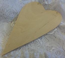 Nr 13 Hjärta trä utan borrade hål