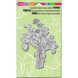 Stampendous Cling Stamp 7.75X4.5 - Sweet Pea Bouquet -