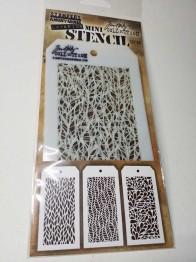Tim Holtz Mini Layered Stencil Set 3/Pkg -