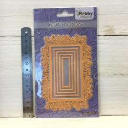 Nellie Snellen - Cutting Dies - HSFD028 Rectangle swirl frame -