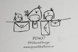 Omonterad gummistämpel PD437 -