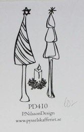 Omonterad gummistämpel PD410 -