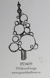 Omonterad gummistämpel PD409 -
