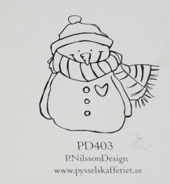 Omonterad gummistämpel PD403 -