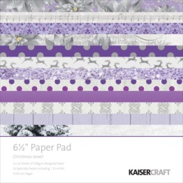 Kaisercraft Paper Pad 6.5X6.5 - Christmas Jewel -