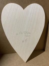 Trä-hjärta nr 15 -