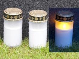Set med två gravljus inkl batterier -