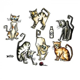SIZZIX THINLITS CRAZY CATS BY TIM HOLTZ ARTIKELNUMMER: SX661209 -