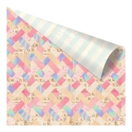 Prima Heaven Sent 2 Foiled Double-Sided Cardstock 12X12 - Stitched -