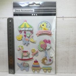 Deco Accessories - 3D 8pcs baby -