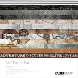Kaisercraft Paper Pad 6.5X6.5 40/Pkg - Factory 42 -