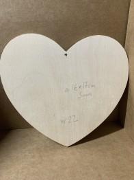 Trä-hjärta nr 22 -