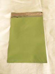 Cellofankuvert, 1 st, med klisterremsa, ljusgrön -