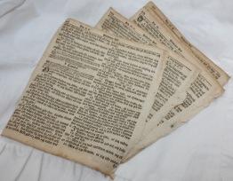 Bibel papper från 1700-talet, 5-pack