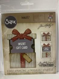 Tim Holtz Sizzix Thinlits Dies 6/Pkg - Gift Card Package -