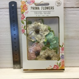 Prima Santa Baby Mulberry Paper flowers -