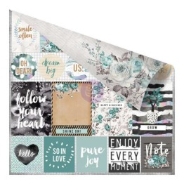 Prima Zella Teal Double-Sided Cardstock 12X12 - Live Loudly -