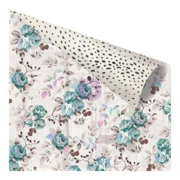 Prima Zella Teal Double-Sided Cardstock 12X12 - Stone Rose -