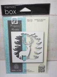 Memory box evergreen reindeer -