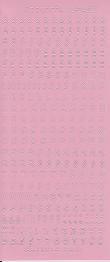 Rosa - Stickers alfabet. Många bokstäver av varje på varje ark. Arket mäter 23 x 10 cm -