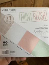 Block 6x6 mint blush -