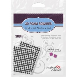 Scrapbook Adhesives 3L 3D Self-Adhesive Foam Squares 308/Pkg - Black Mini -