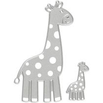 Skärschablon, stl. 54x92+21x35 mm, , giraff, 1st.