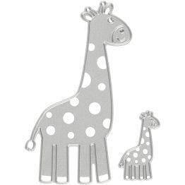 Skärschablon, stl. 54x92+21x35 mm, , giraff, 1st. -