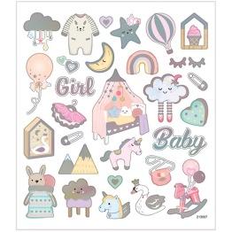 Stickers baby 15x16,5 cm,