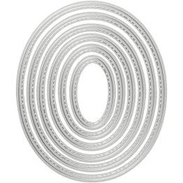 Skär och prägelschablon, stl. 5x3-12x10 cm, , oval, 1st.