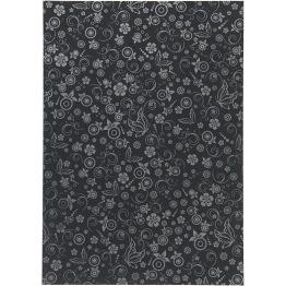 Papper, svart, A4 210x297 mm, 80 g, 20 ark