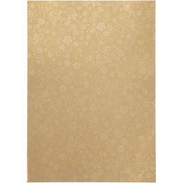 Papper, guld, A4 210x297 mm, 80 g, 20 ark