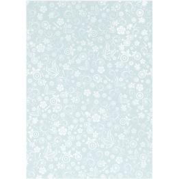 Papper, ljusblå, A4 210x297 mm, 80 g, 20 ark