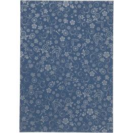 Papper, mörkblå, A4 210x297 mm, 80 g, 20 ark