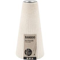 Ljusstake, dia. 7 cm, H: 13 cm, bambusfibre