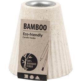 Ljusstake, dia. 6,8 cm, H: 7 cm, bambusfibrer