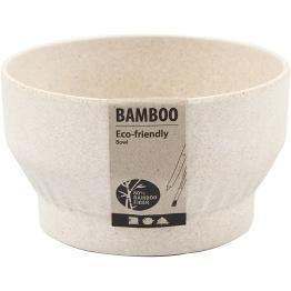 Skål, dia. 12 cm, H: 7 cm, bambusfibrer, 1st.