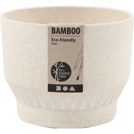 Skål, dia. 12 cm, H: 9,3 cm, bambusfibrer, 1st.