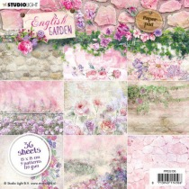 Studio Light Paper Pad 36 sheets English Garden nr.136 15x15cm