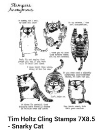 Tim Holtz cling stamps Snarky Cat