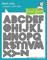 Lawn Fawn Custom Craft Die - Oliver´s Stitched ABCs