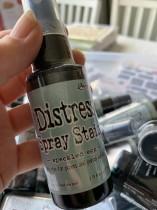 Distress spray speckled egg