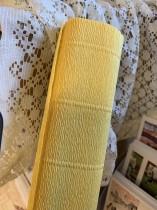 Italienskt crepepapper 140 gram, 50 cm x 250 cm, nr 978 gul