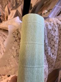 Italienskt crepepapper 140 gram, 50 cm x 250 cm, nr 966 ljus grön