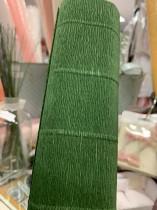 talienskt crepepapper 140 gram, 50 x 250 cm, nr 991 mörk grön